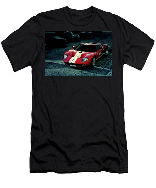Red Ford Gt Men's T-Shirt (Athletic Fit)