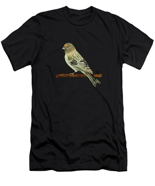 Men's T-Shirt (Athletic Fit) featuring the painting Red-fronted Serin by Angeles M Pomata