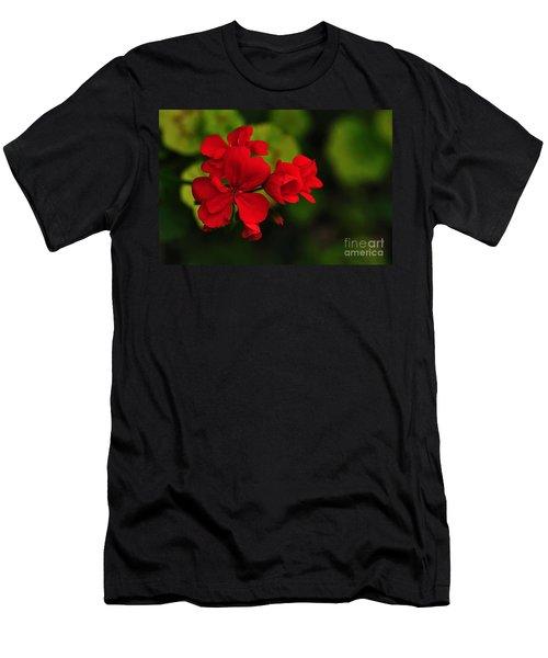 Red Geranium Men's T-Shirt (Athletic Fit)