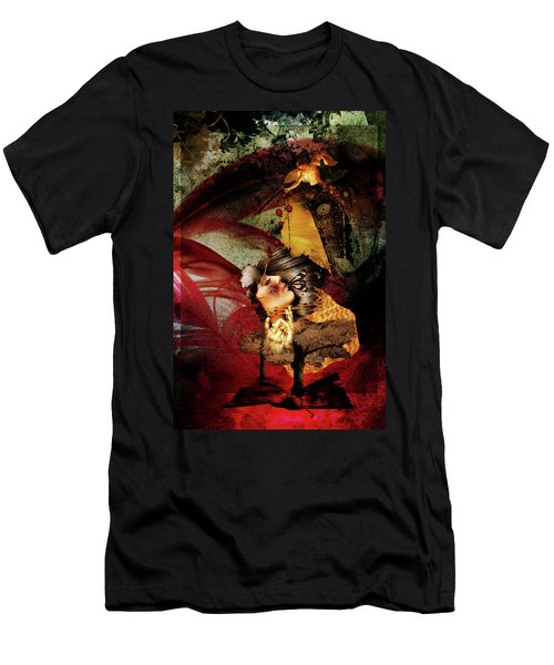 Red Girl Men's T-Shirt (Athletic Fit)