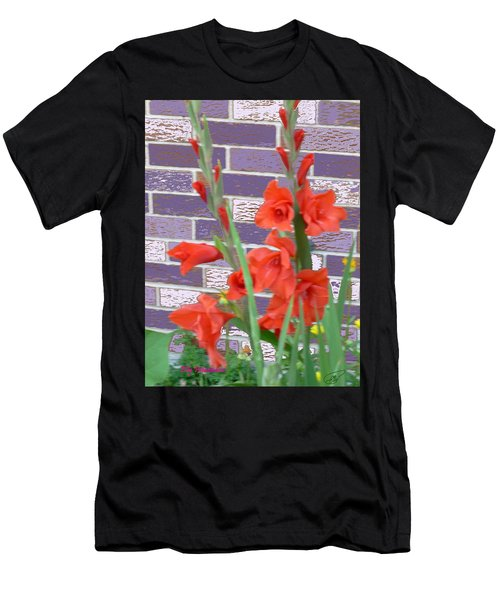 Red Gladiolas Men's T-Shirt (Athletic Fit)