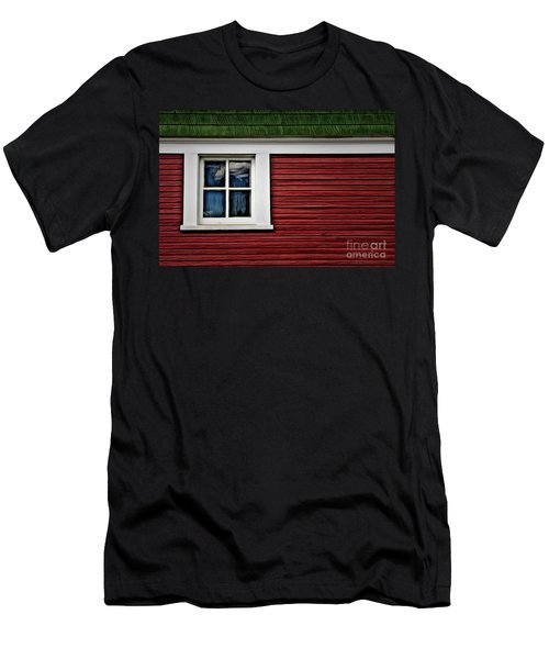 Men's T-Shirt (Slim Fit) featuring the photograph Red Green by Brad Allen Fine Art