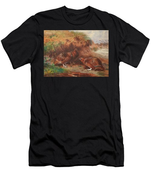 Red Grouse Beneath A Burn Bank Men's T-Shirt (Athletic Fit)