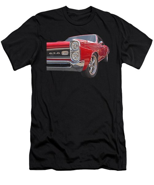 Red Gto Men's T-Shirt (Slim Fit) by Gill Billington