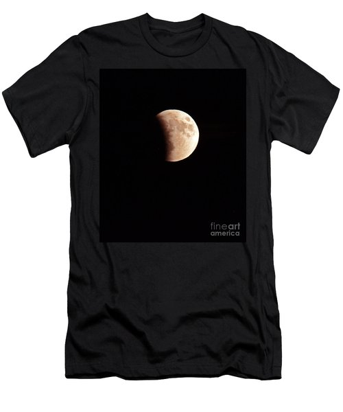 Red Harvest Super Moon Eclipse Men's T-Shirt (Athletic Fit)