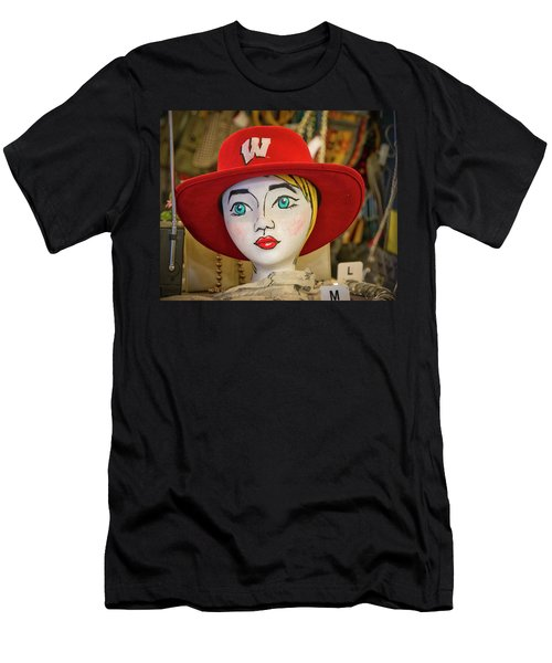 Red Hat On Mannequin Head Men's T-Shirt (Athletic Fit)