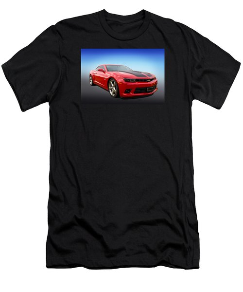 Men's T-Shirt (Slim Fit) featuring the photograph Red Hot Camaro by Keith Hawley