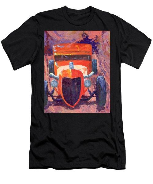 Red Hot Rod Sedan Men's T-Shirt (Athletic Fit)