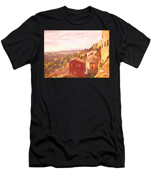Red House On A Hill Men's T-Shirt (Athletic Fit)