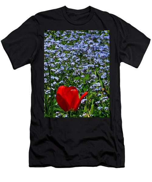 Red In Blue2 Men's T-Shirt (Athletic Fit)