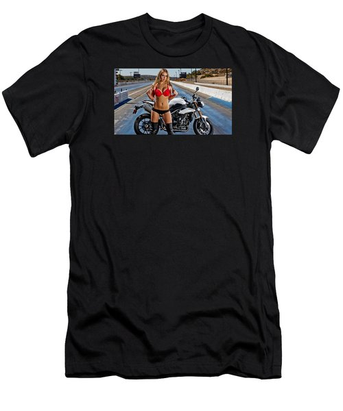 Men's T-Shirt (Slim Fit) featuring the photograph Red Is Not Always For Ducati by Lawrence Christopher