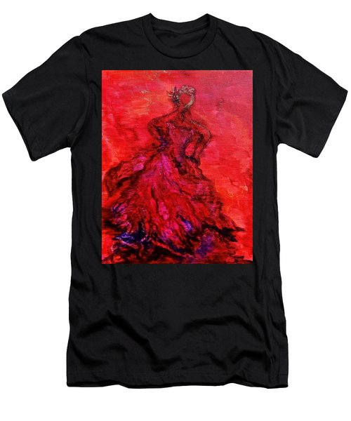 Red Lady Men's T-Shirt (Athletic Fit)