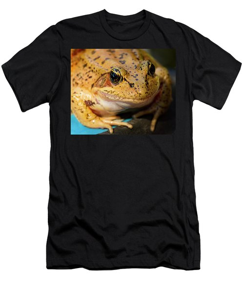 Men's T-Shirt (Slim Fit) featuring the photograph Red Leg Frog by Jean Noren