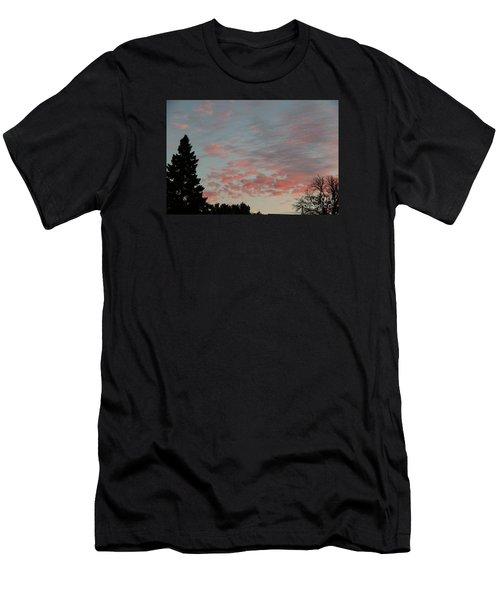 Red Morning Cloud 2 Men's T-Shirt (Slim Fit) by Yumi Johnson