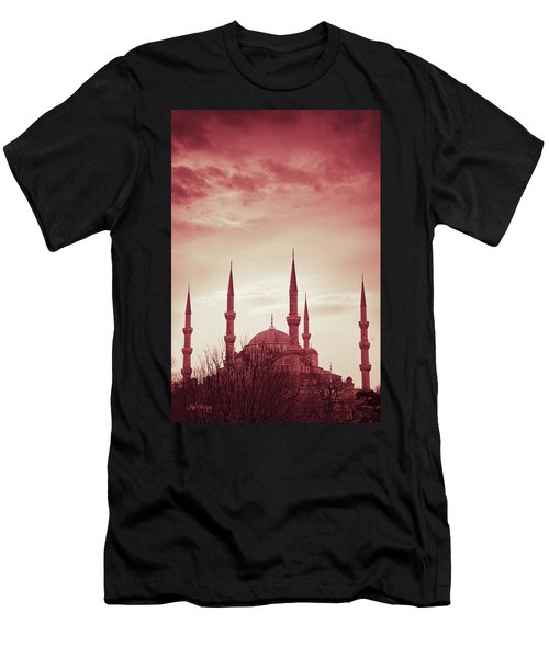 Red Peace Men's T-Shirt (Athletic Fit)