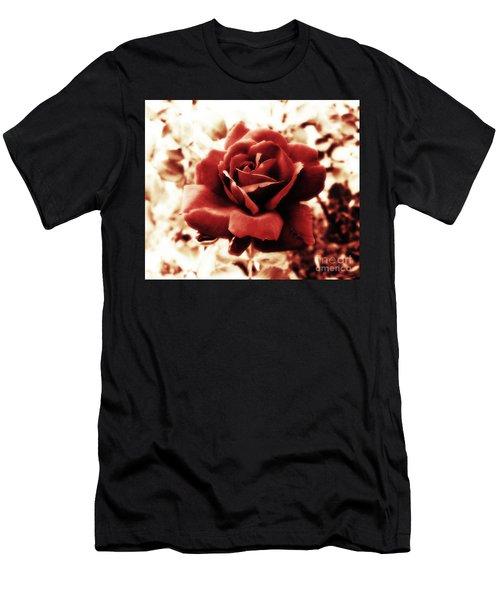 Red Petals Men's T-Shirt (Athletic Fit)