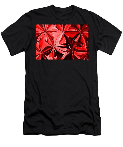 Red Pinched And Gathered Men's T-Shirt (Athletic Fit)
