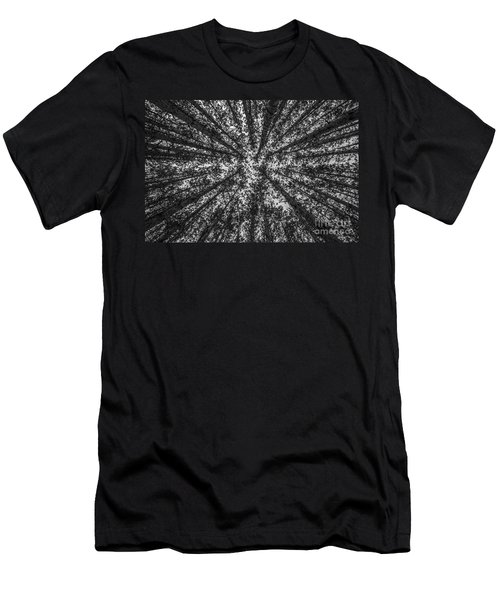 Red Pine Tree Tops In Black And White Men's T-Shirt (Athletic Fit)