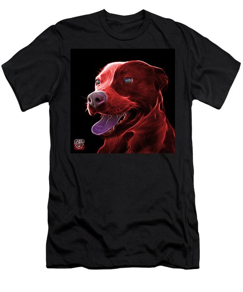 Red Pit Bull Fractal Pop Art - 7773 - F - Bb Men's T-Shirt (Athletic Fit)