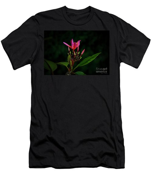 Red Plumeria Men's T-Shirt (Athletic Fit)