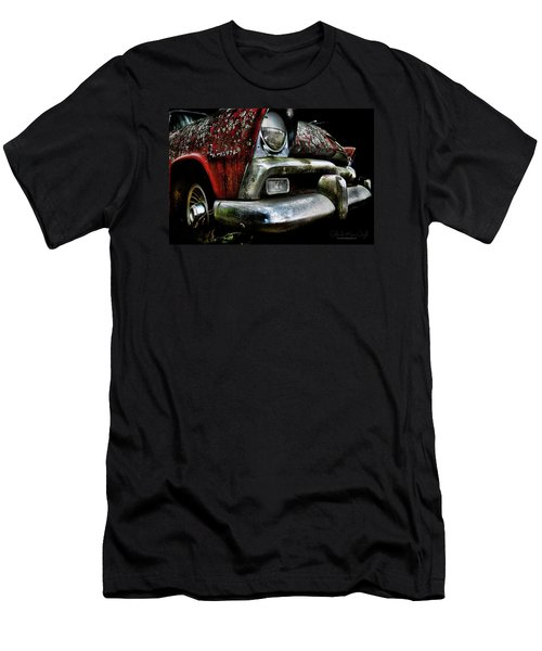 Men's T-Shirt (Athletic Fit) featuring the photograph Red Plymouth Belvedere by Glenda Wright