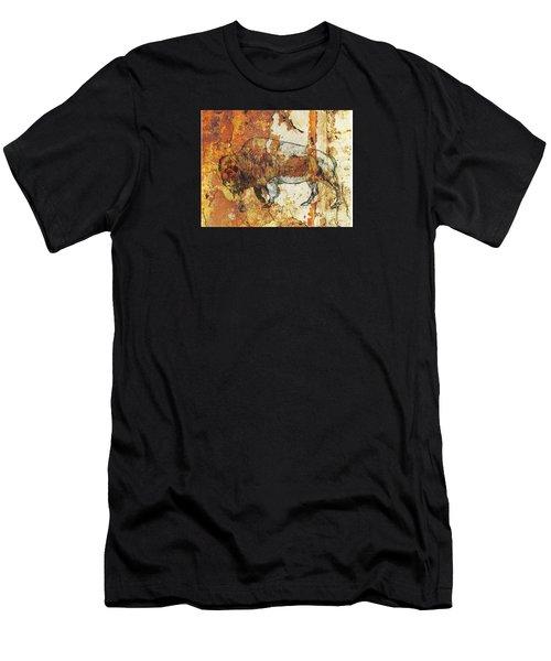 Red Rock Bison Men's T-Shirt (Athletic Fit)