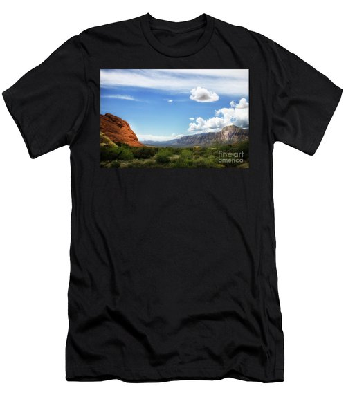 Red Rock Canyon Vintage Style Sweeping Vista Men's T-Shirt (Athletic Fit)