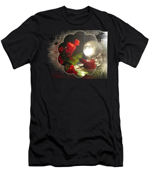 Red Rose And Globe  Men's T-Shirt (Athletic Fit)