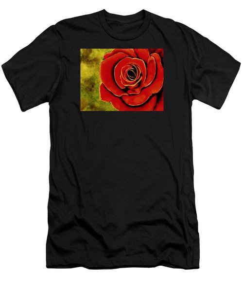 Red Rose Blooms Men's T-Shirt (Athletic Fit)