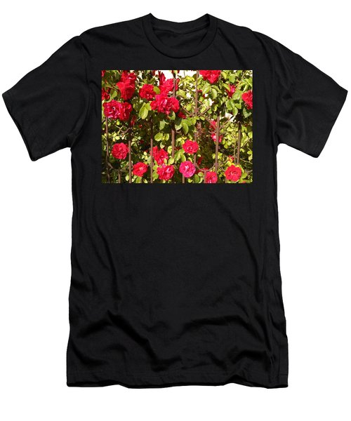 Red Roses In Summertime Men's T-Shirt (Athletic Fit)