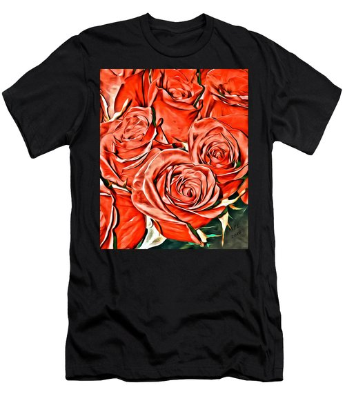 Red Roses Men's T-Shirt (Athletic Fit)