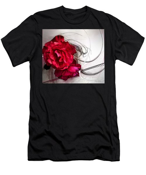 Red Roses Men's T-Shirt (Slim Fit) by Susan Kinney