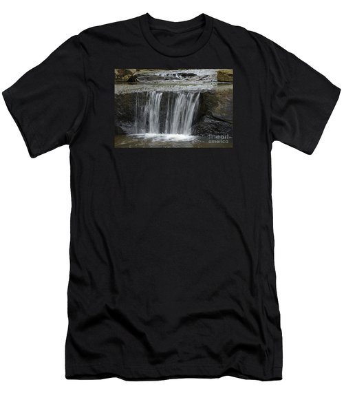Red Run Waterfall Men's T-Shirt (Athletic Fit)