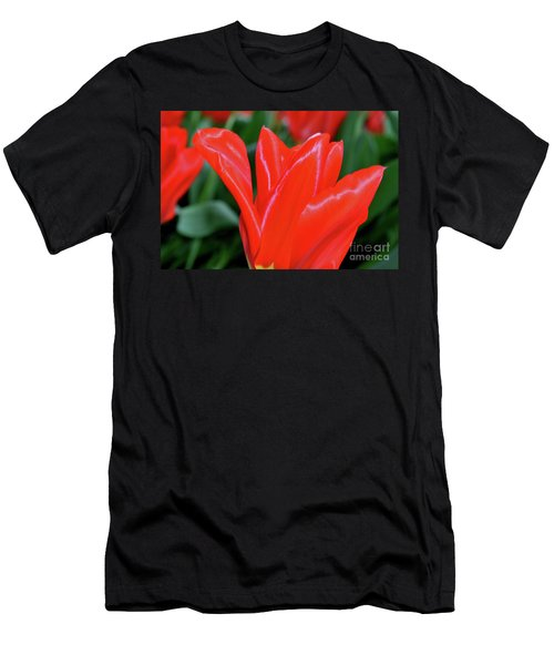 Red Satin Men's T-Shirt (Athletic Fit)