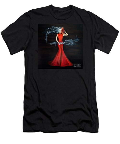 Scented Red Color Men's T-Shirt (Athletic Fit)