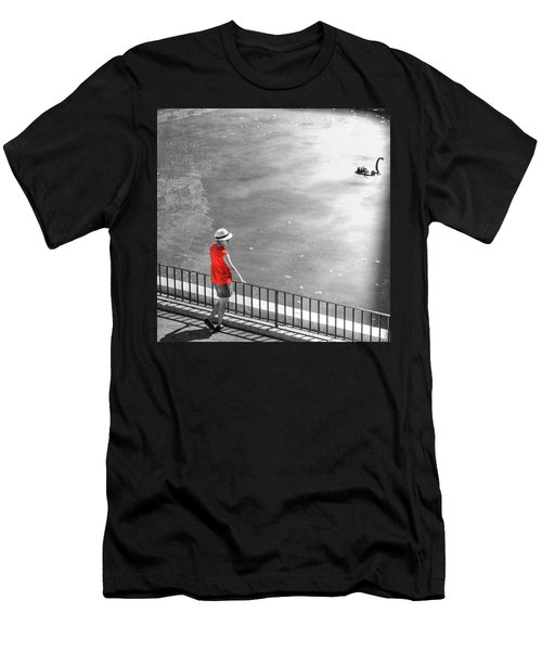 Red Shirt, Black Swanla Seu, Palma De Men's T-Shirt (Athletic Fit)