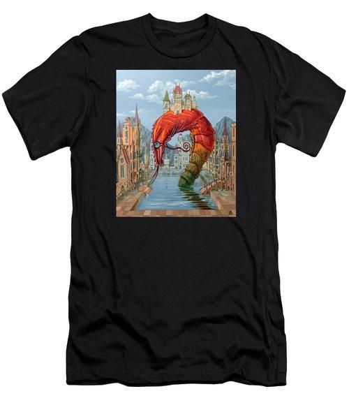 Red Shrimp Men's T-Shirt (Athletic Fit)