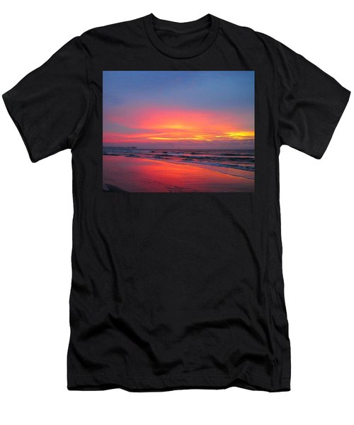 Red Sky At Morning Men's T-Shirt (Athletic Fit)