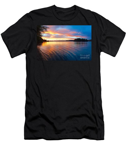 Red Sky At Night Men's T-Shirt (Slim Fit) by Sean Griffin