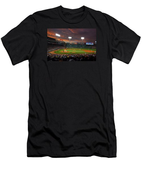 Red Sky Over Fenway Park Men's T-Shirt (Athletic Fit)