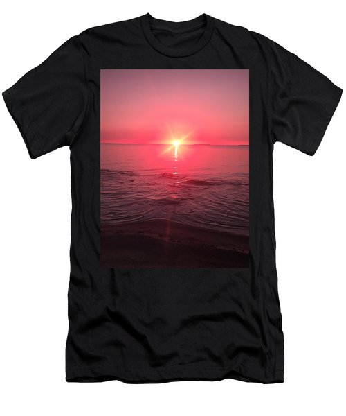 Red Sky Sunset Men's T-Shirt (Athletic Fit)