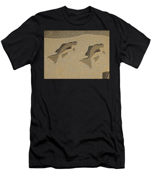Red Snapper Inlay In Sepia Tones Men's T-Shirt (Athletic Fit)