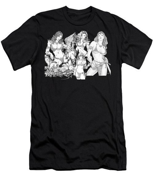 Red Sonja Collage Men's T-Shirt (Athletic Fit)