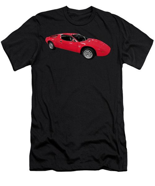 Red Sport Car Art Men's T-Shirt (Athletic Fit)