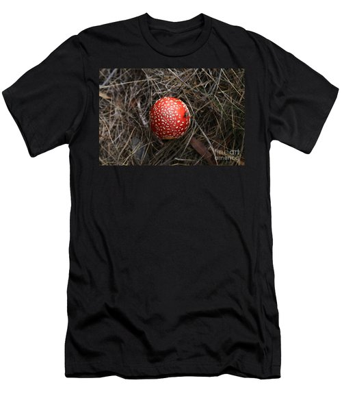 Red Spotty Toadstool Men's T-Shirt (Athletic Fit)