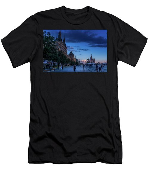 Red Square At Dusk Men's T-Shirt (Athletic Fit)