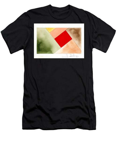 Red Square Tanned Men's T-Shirt (Athletic Fit)