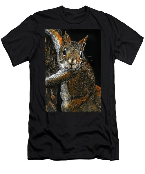 Red Squirrel Men's T-Shirt (Athletic Fit)