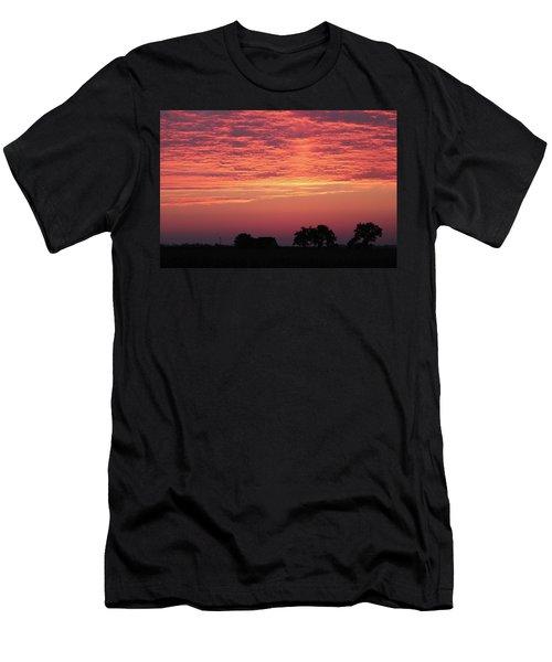Red Sunrise Men's T-Shirt (Athletic Fit)