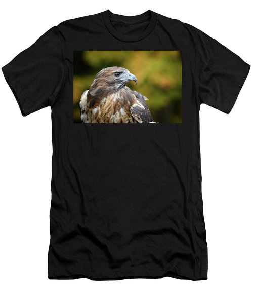 Men's T-Shirt (Athletic Fit) featuring the photograph Red Tail Hawk by Michael Hubley
